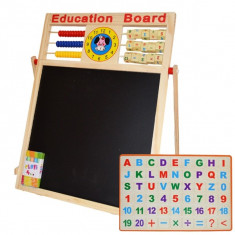 Tablita din lemn 2 fete cu socotitoare litere si cifre magnetic
