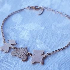 BRATARA argint Aurit RUE DES MILLE brand de Lux ITALIA stare IMPECABILA eleganta