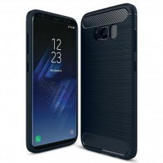 Husa SAMSUNG Galaxy S8 Plus - Luxury Carbon TSS, Bleumarin
