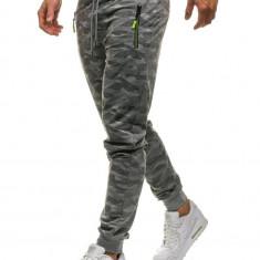 Pantaloni joggers sportivi pentru bărbat camuflaj-gri Bolf HL8510