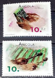Cumpara ieftin Angola 2001, ziua Africi, instrumente,serie 2  mnh