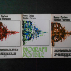 ILEANA CORBEA, NICOLAE FLORESCU - BIOGRAFII POSIBILE 3 volume