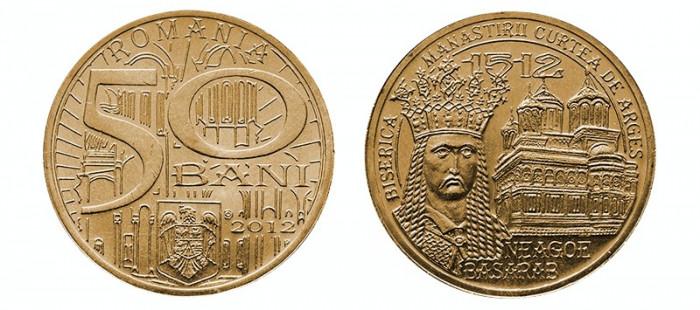 SV * Romania   50  BANI  2012  *  DOMNITORUL NEAGOE BASARAB     UNC   din  fasic