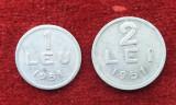 Lot x 2 monede 1 Leu & 2 Lei 1951 moneda Republica Populara Romana
