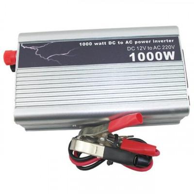 INVERTOR ( convertor ) 12v la 220V 1000W,CURENT 220V LA MASINA,PESCUIT,CAMPING.. foto