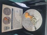 Fauna medalie , tiraj 40 buc, PUPAZA, 156 grame, argint 925