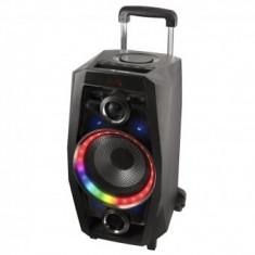 Boxa Bluetooth portabila NGS Wild disco, telecomanda, 2 x microfoane, 80 W