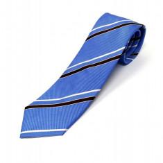 Cravata Matase Bleu Cu Dungi CR008-100