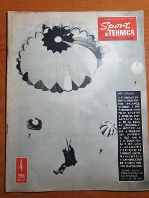 sport si tehnica aprilie 1966-art. orasul onesti,brasov,art. avioanele romanesti foto