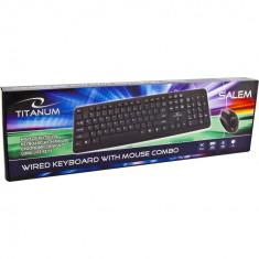 Kit tastatura si mouse, USB, Titanum