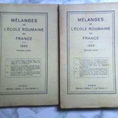 un lot de carte veche 1929 MÉLANGES DE L'ECOLE ROUMAINE EN FRANCE,