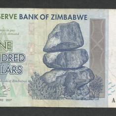 ZIMBABWE  100  DOLARI  DOLLARS   2007    [2]  P- 69 , VF+