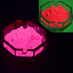 Pigment rosu fluorescent reactiv UV