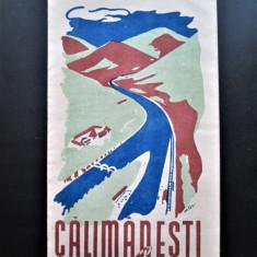Pliant turistic vechi, Romania 1945-1950: Calimanesti