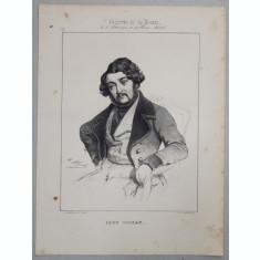 LEON GOZLAN , GRAVURA PE METAL , IMP. D' AUBERT et Cie., MONOCROMA, MIJLOCUL SEC. XIX