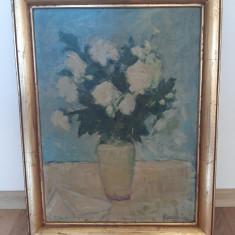 Tablou pictura ulei pe placaj semnat Meder Ilona