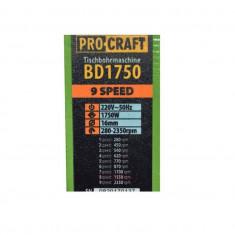 Masina de gaurit cu banc si menghina ProCraft BD1750