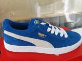 Puma piele suede nr. 38, Unisex, Albastru