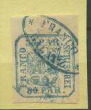 1862-PRINCIPATELE UNITE,FRAUDA POSTALA???BUCURESCI,FRANCO GALATZ NR.2.RRRR, Stampilat