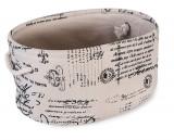 Cos textil MASAPA oval pentru depozitare, 0188118, 37x26xH18cm