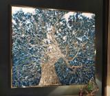 Tablouri abstracte Tablouri cutit Tablouri decorative 100x100cm, Abstract, Ulei