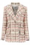Cumpara ieftin Sacou dama Msgm tartan tweed blazer 3041MDG08 217102 12 Multicolor, 38
