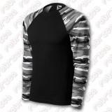 Camouflage LS - tricou cu model de camuflaj, mânecă lungă