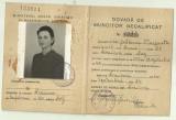 Dovada de muncitor necalificat - 1940