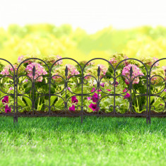 Bordura pt. pat de flori / gard - 68 x 38 - Negru Best CarHome