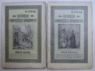 ISTORIA COMERTULUI ROMANESC-N. IORGA - 1925 VOL.I-II foto