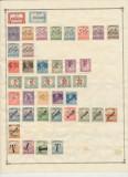 1919 lot 77 timbre ocupatii pe fila album vechi multe Banat Bacska si Baranya