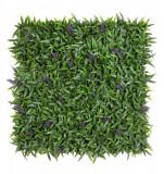 Panou plante verzi si lavanda artificiala 50 cm x 50 cm, Bizzotto