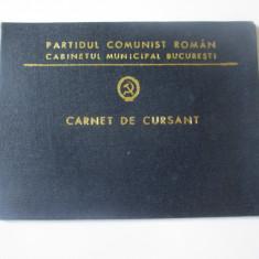 Carnet de cursant cabinetul mun.Bucuresti-Unive.Politica si de conducere PCR 976