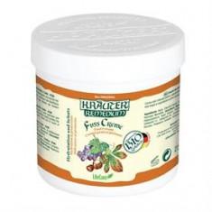 Crema de picioare pentru imbunatatirea circulatiei, cu vita de vie si plante BIO Krauter – 250 ml