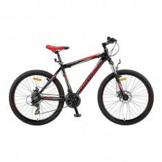 """Bicicleta MTB Umit Mirage Cadru 20"""" , 21 Viteze , Culoare Negru/Rosu Roata 26""""PB Cod:26670200001, Discuri"""