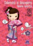 Colorează și descoperă desene surpriză din Asia