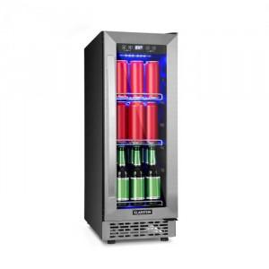 Klarstein Beerlager 56, frigider pentru băuturi, 56 l, 20 sticle, clasa energetică A, oțel inoxidabil, negru