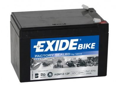 Baterie moto AGM Backup EXIDE 12V 12Ah 150A 150x100x100 AGM12-12F foto