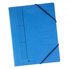 Dosar plic premium cu elastic albastru