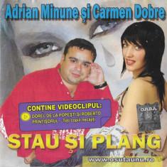 CD Stau Si Plang , original, manele: Adrian Minune, Liviu Pustiu, Vali Vijelie