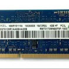 memorie ram laptom 4gb 1600 mhz la 1,35 v adica ddr3l