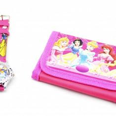 Set ceas pentru copii cu printese si portofel cadou MK19R