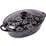 VABENE VB-6020023 Cratita ceramica ovala cu capac 1.4 L