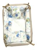 Cumpara ieftin Reductor Bebe Bed Nest cu paturica si pernuta antiplagiocefalie Deseda Ursuleti crem