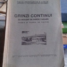 GRINZI CONTINUI CU MOMENT DE INERTIE VARIABIL - CONSTANTIN M. AVRAM