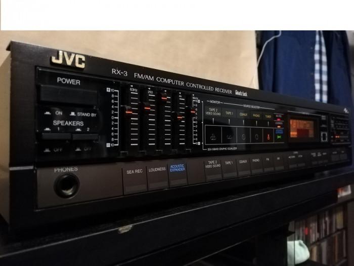 Amplificator/Receiver Stereo HiFi  - JVC RX-3BK - Rar/Impecabil/Japan/Vintage