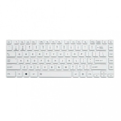 Tastatura Laptop, Toshiba, Satellite C55DT-A, alba, cu rama, US foto