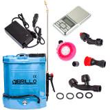 Pompa Stropit Electrica Brillo 12L,Acumulator|Manometru|+Cantar De Precizie