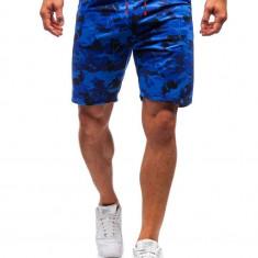 Pantaloni scurți trening bărbați camuflaj-albastru Bolf 300118