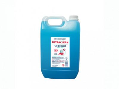 Gel igienizant pentru maini 70% alcool ULTRA CLEAN 5 litri, Albastru foto